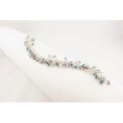 Bracelet Wire Wrapping Argent 925 et Cristal de Swarovski 3 couleurs