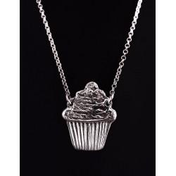 Collier Cupcake Argent 999 sur Chaîne Argent 925