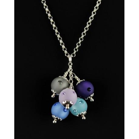 Collier Argent 925 et Cristal de Swarovski 5 perles