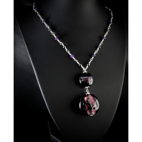 Verre Violettes Et Collier 925 De Perles Argent Créations AméthysteHématite Célise qUVLMjSzGp