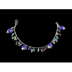 Bracelet Argent 925 et Cristal de Swarovski Coeur Violet