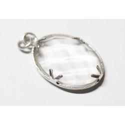 Pendentif Cristal de Roche et Argent 925